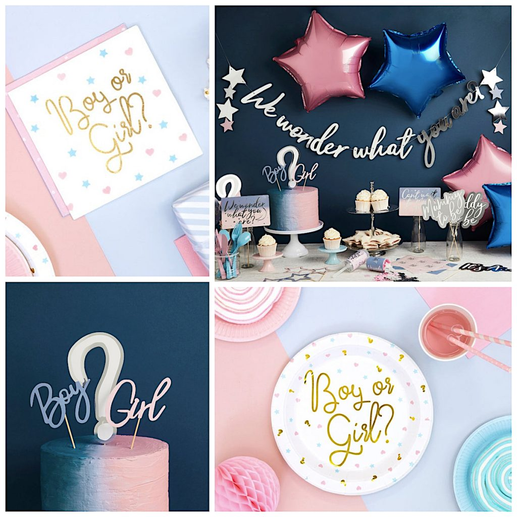 We Wonder What You Are Gender Reveal Baby Shower Supplies