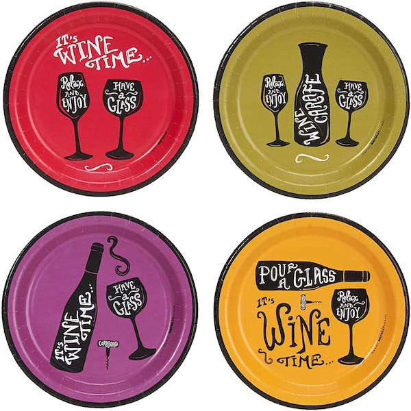 Wine Time Ladies Night Party Plates