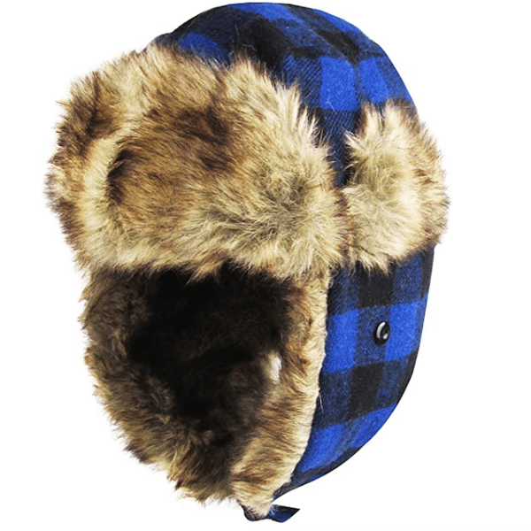 Buffalo Plaid Aviator Trapper Hat