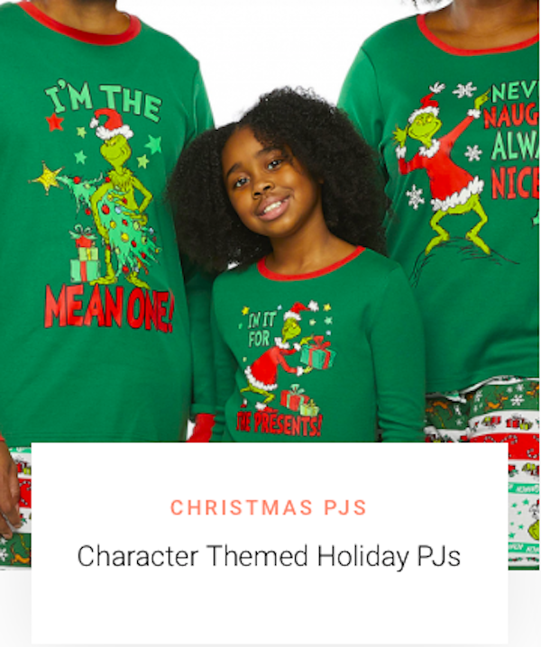 Mommy and Me Character Themed Christmas Pajamas