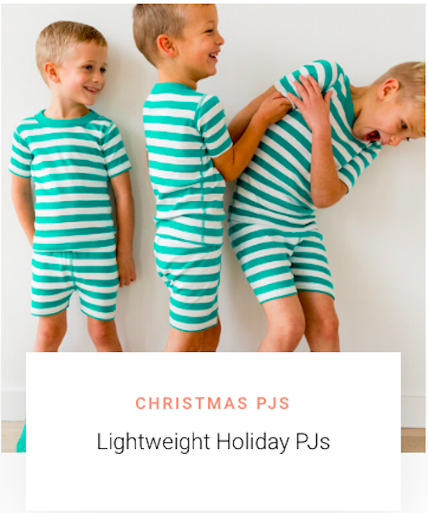 Mommy and Me Lightweight Summer Christmas Pajamas