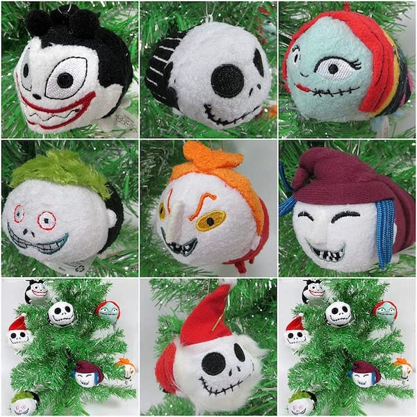 Nightmare Before Christmas Mini Plush Christmas Ornament Set