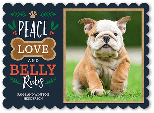 Belly Rubs Pet Christmas Card