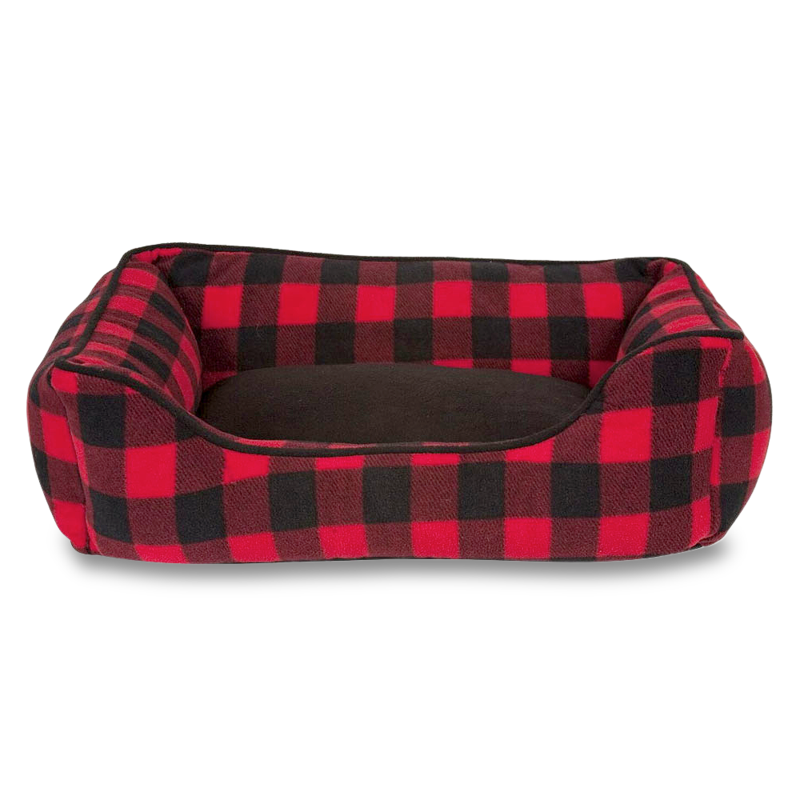 Buffalo Check Cabin Dog Bed