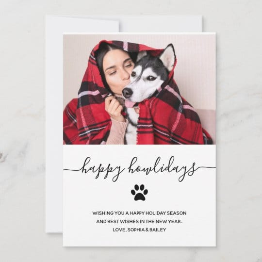 Happy Howlidays Dog Christmas Card