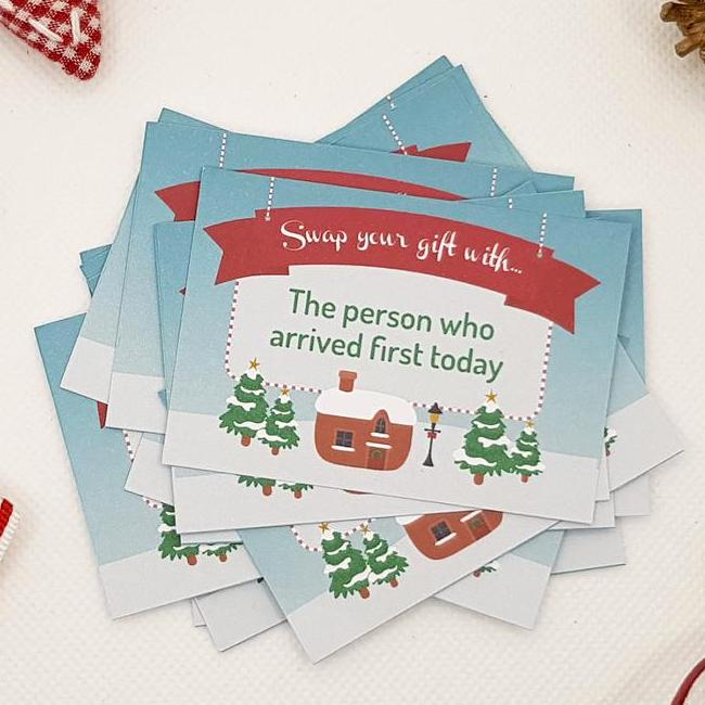 Printable Christmas Gift Exchange Party Game