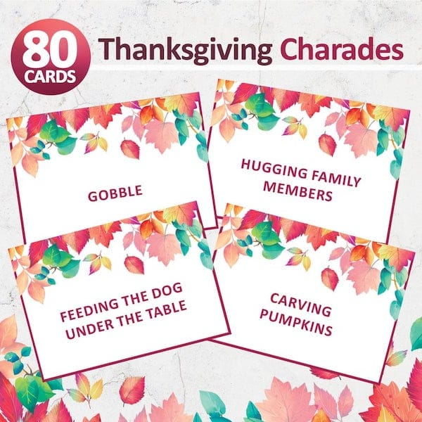 Printable Thanksgiving Charades