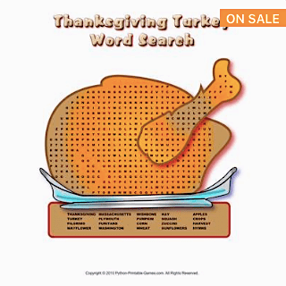 Printable Thanksgiving Word Search