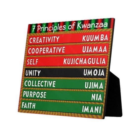 7 Principles of Kwanzaa Plaque