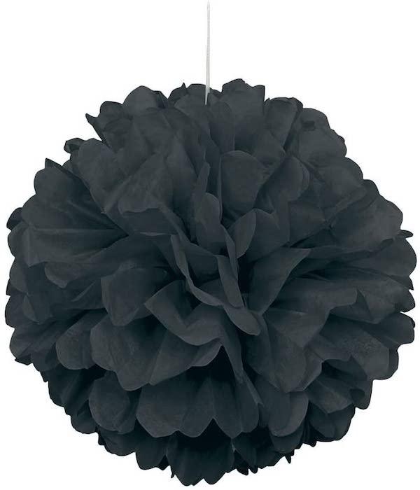 Black Tissue Paper Pom Pom