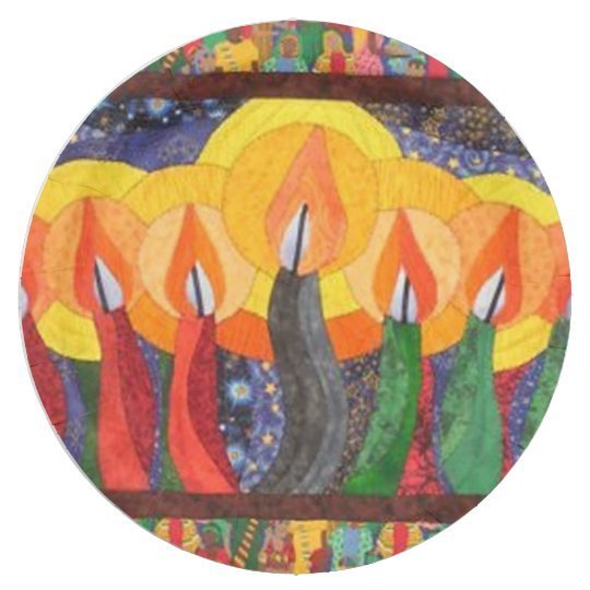 Candles In The Wind Kwanzaa Party Paper Plates