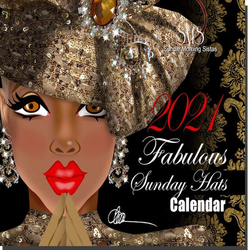 Fabulous Sunday Hats 2021 Wall Calendar