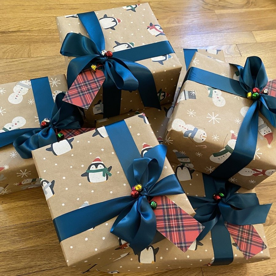 Festive Wrapped Holiday Presents