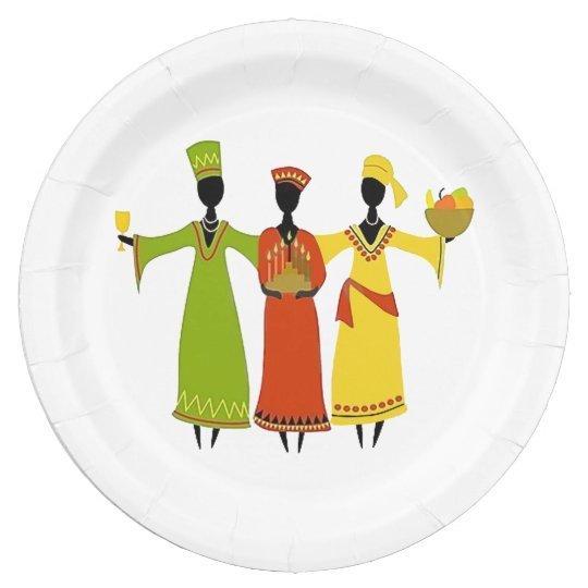 Gathering Kwanzaa Party Paper Plates