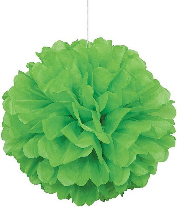 Green Tissue Paper Pom Pom