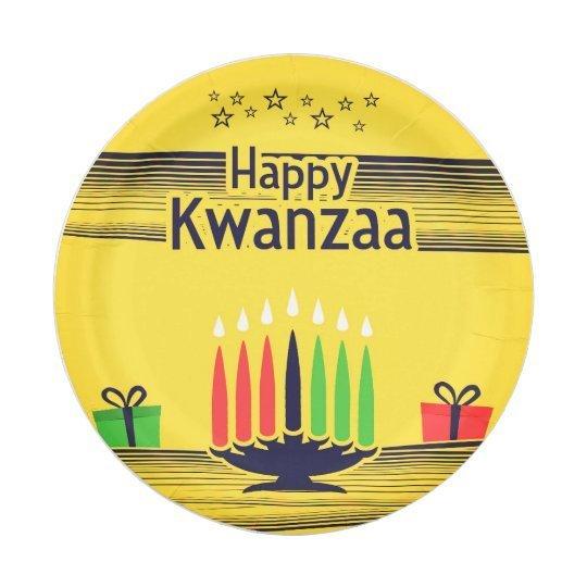 Happy Kwanzaa Paper Plate