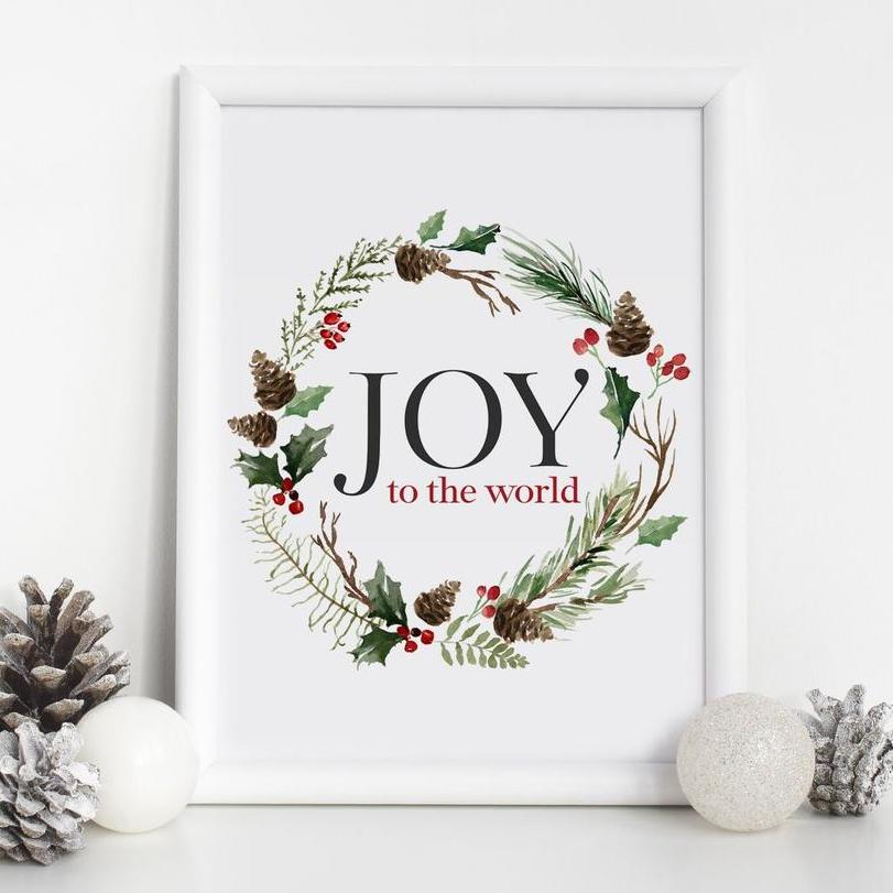 Joy to the World Printable Christmas Decor