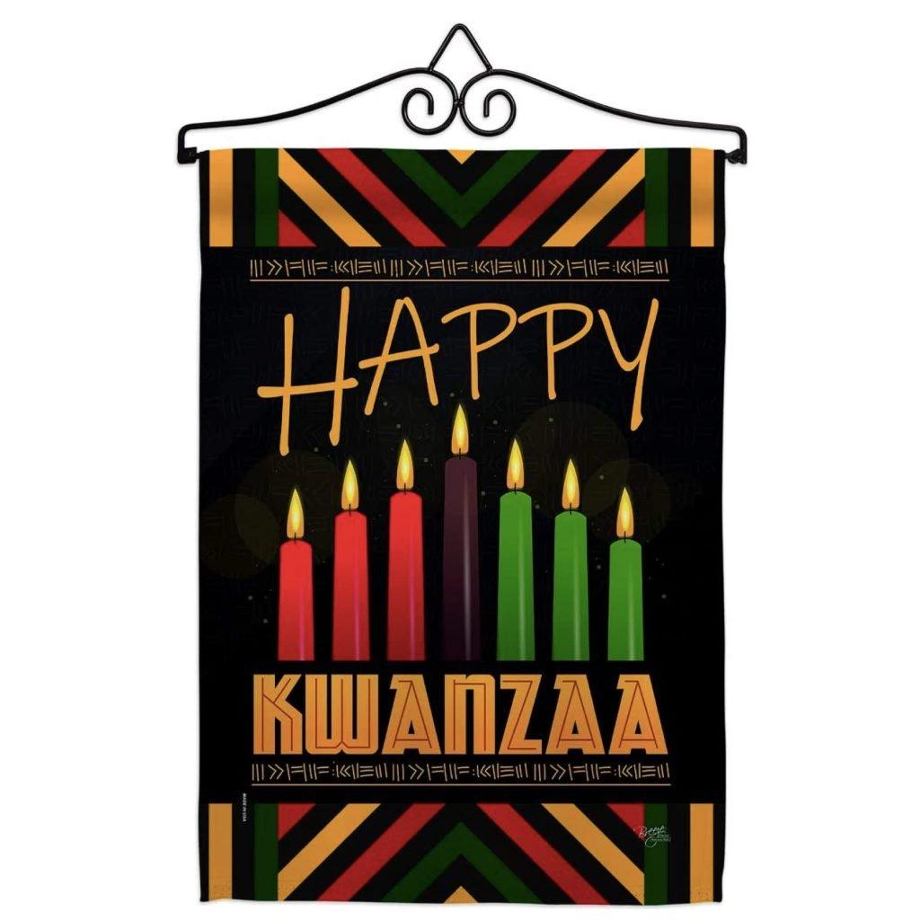 Kwanzaa Greeting Garden Flag Set
