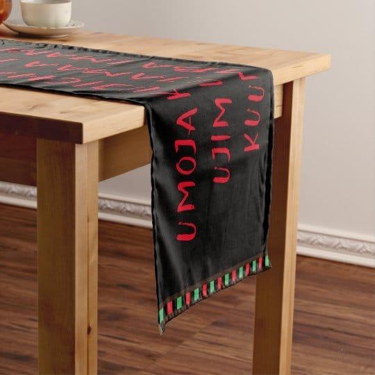 Kwanzaa Principles Table Runner