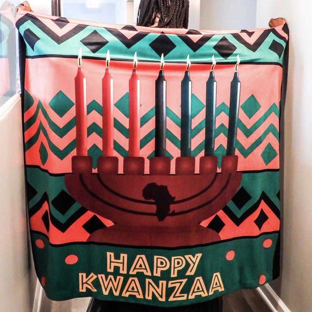 Kwanzaa Reversible Learning Blanket