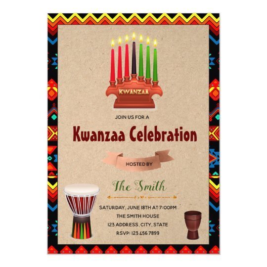 Kwanzaa celebration party invitation