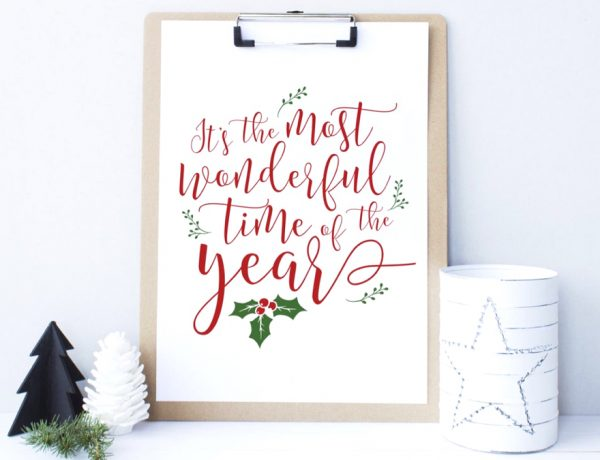 Last Minute Budget Friendly Printable Christmas Decor