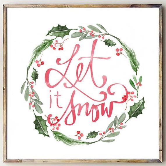 Let it Snow Christmas Printable Decor