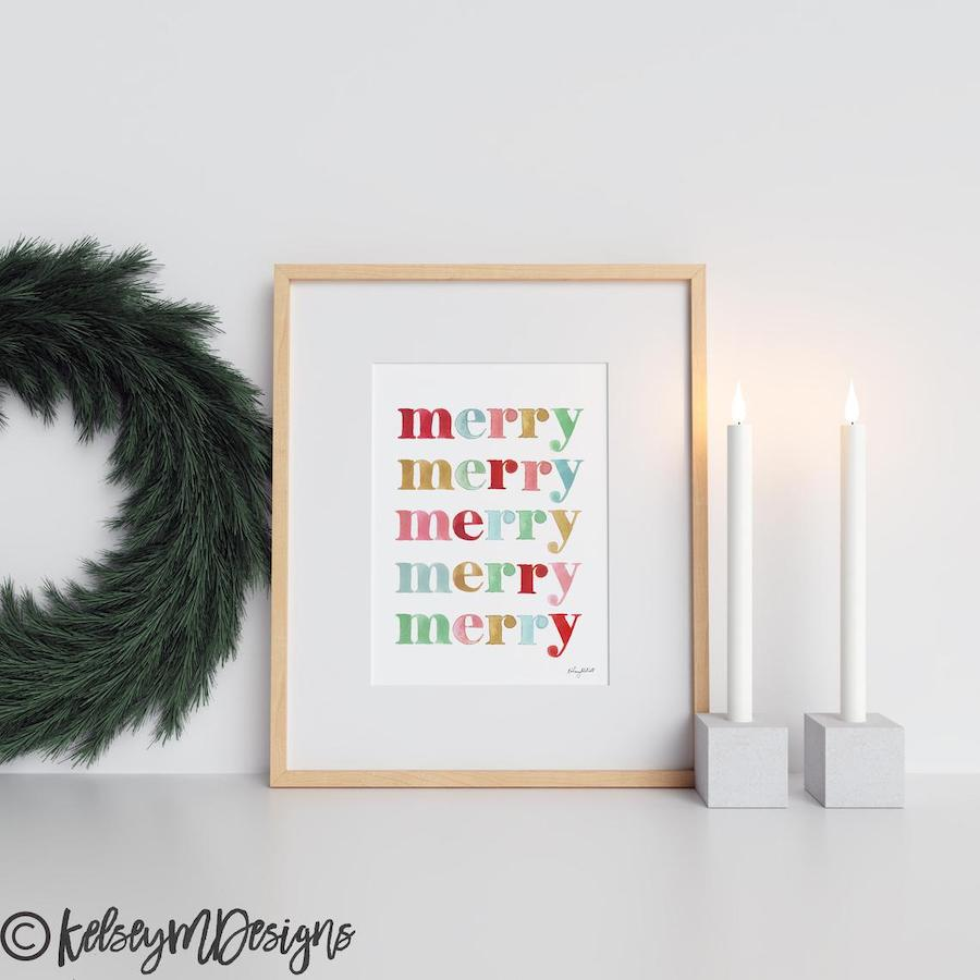 Merry Merry Printable Christmas Print