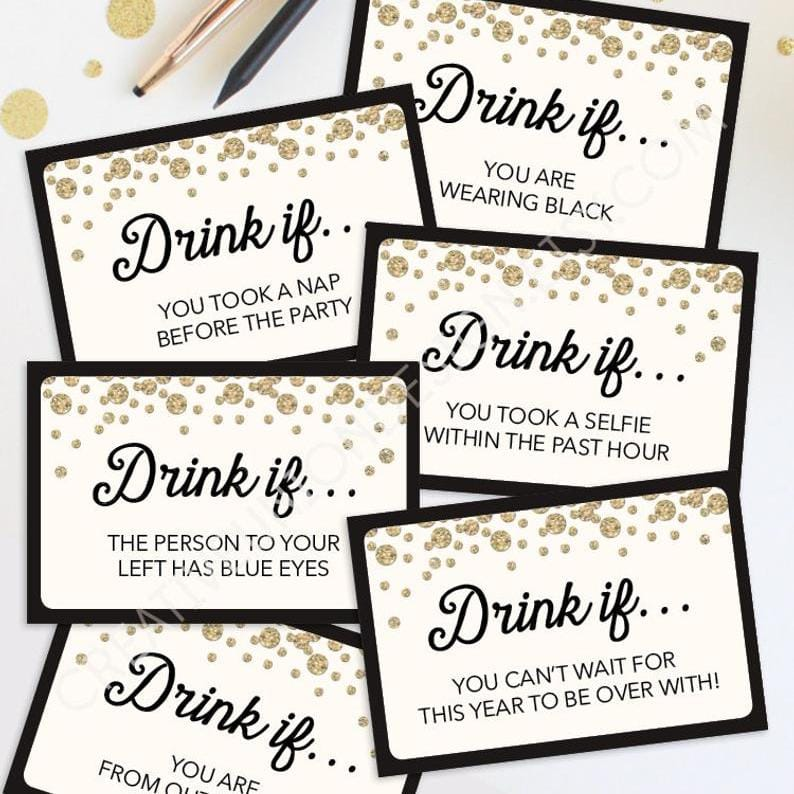 New Years Eve Printable Drink If Game