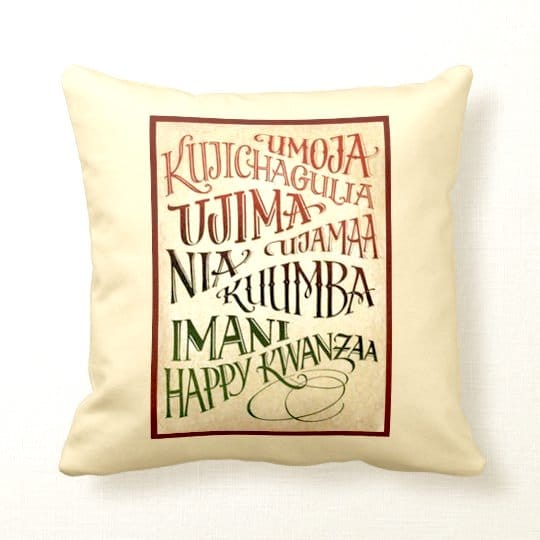 Path To A Happy Life Kwanzaa Throw Pillow