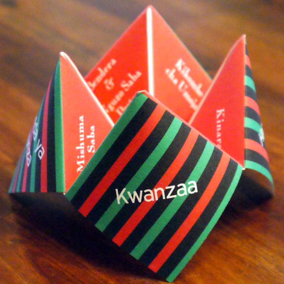 Printable Kwanzaa Cootie Catcher