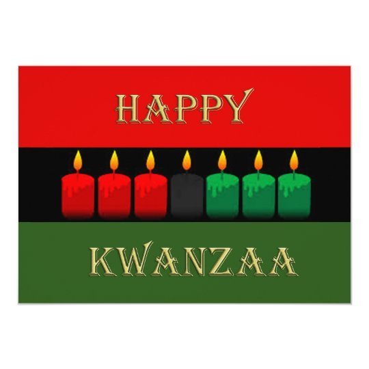 Shine Brightly Kwanzaa Holiday Party Invitations
