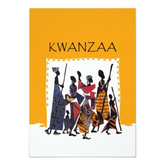 To Celebrate Kwanzaa Holiday Party Invitations