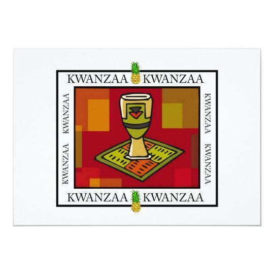 Unity Cup Kwanzaa Holiday Party Invitations