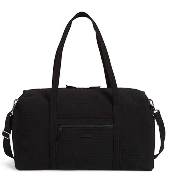 Vera Bradley Large Black Travel Duffle Bag