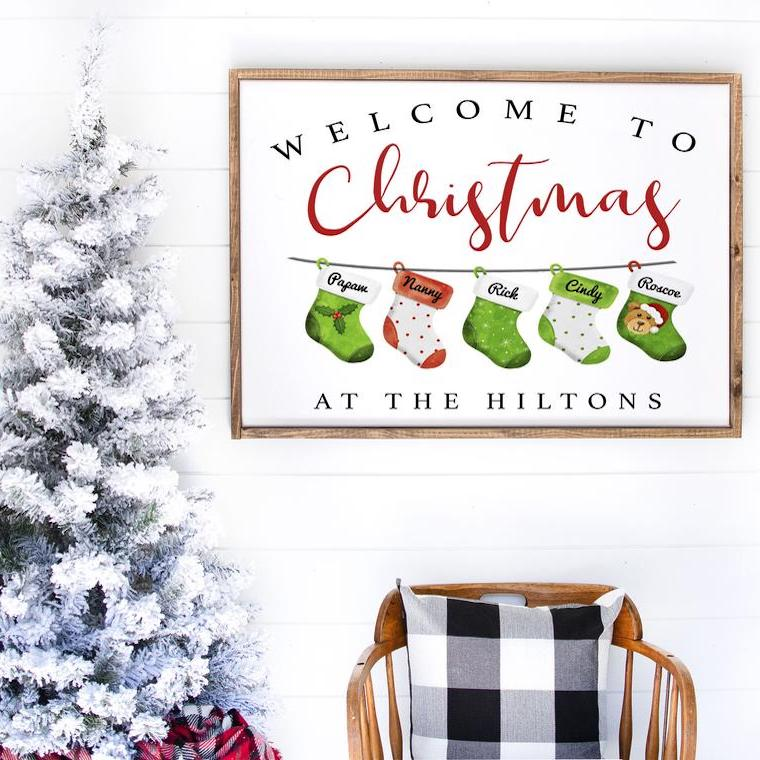 Welcome to Christmas at Our House Printable Holiday Decor