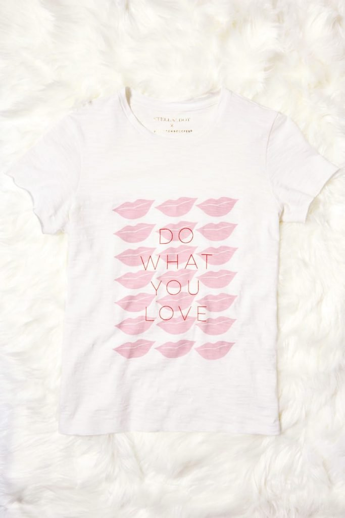 Party Pretty in Pink in a Do what you Love Graphic Tee