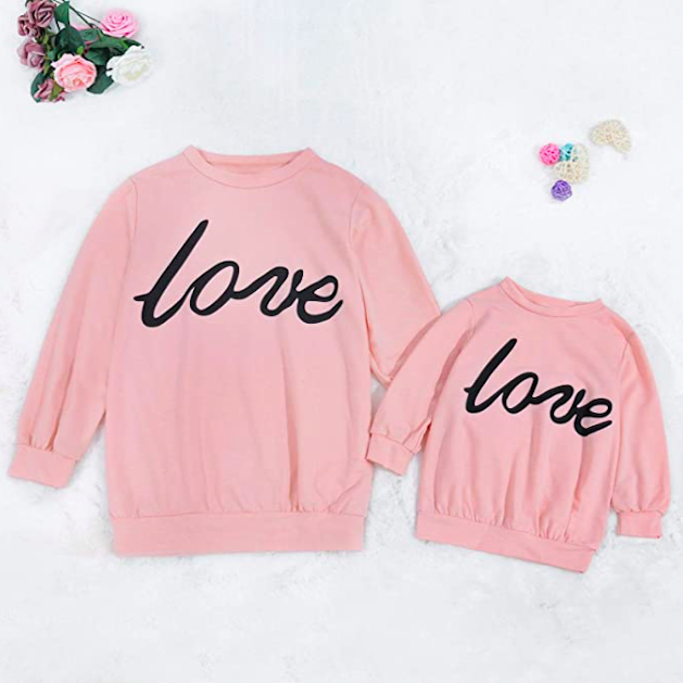 Mother Daughter Matching Love Sweatshirts