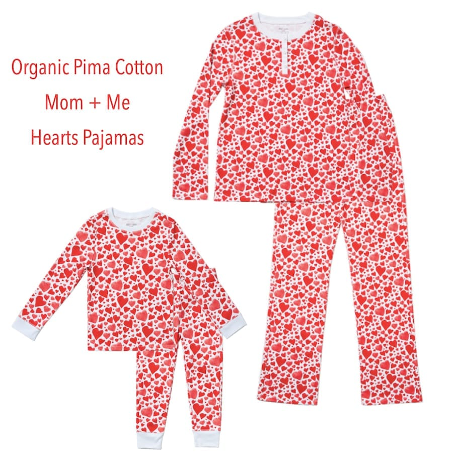 Organic Pima Cotton Hearts PJs