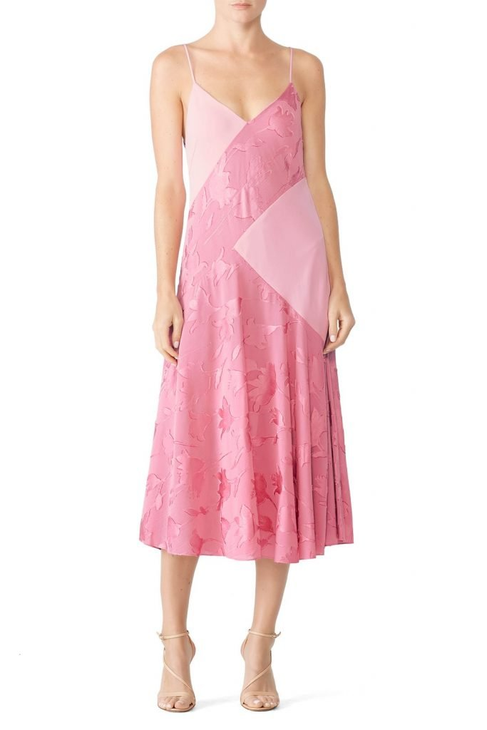 Prabal Gurung Pink Cami Midi Dress