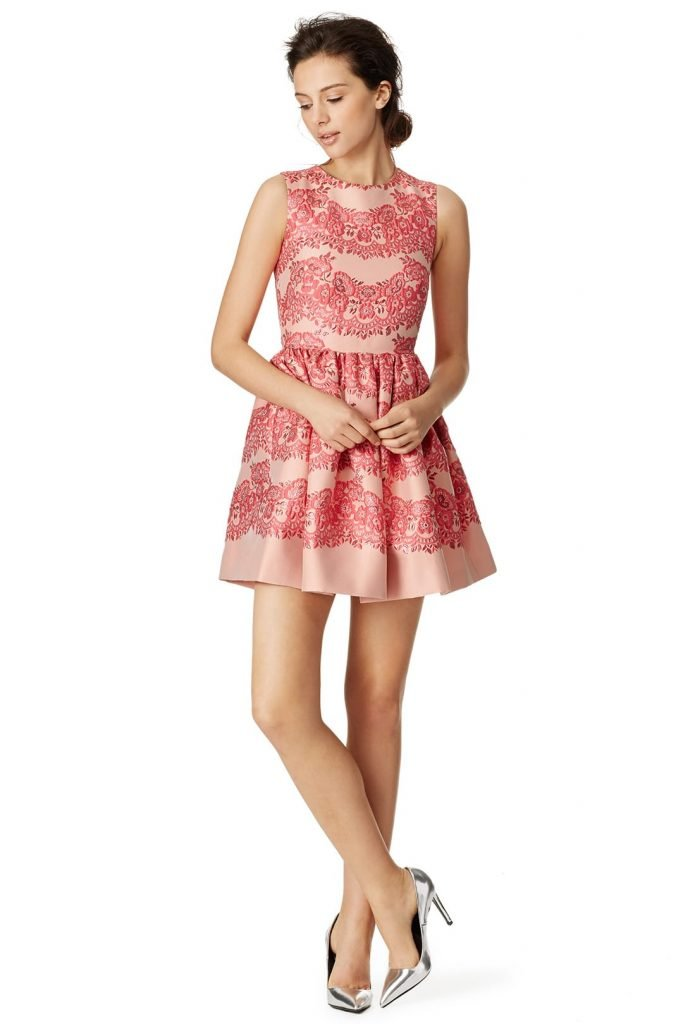 RED Valentino Lines of Pink Dress