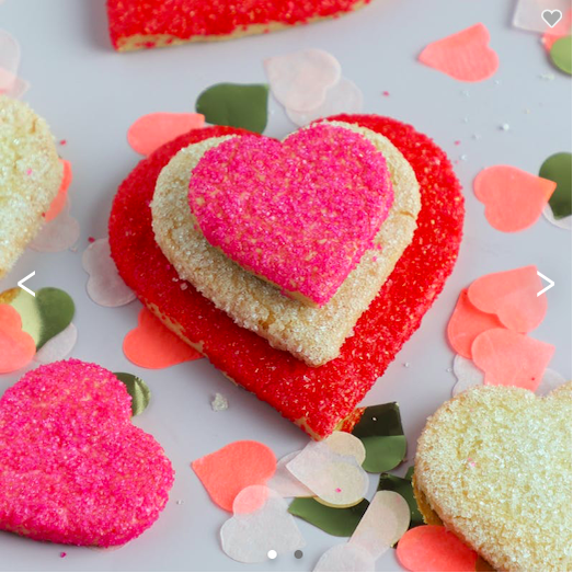 Sugar Heart Cookies Favor Box
