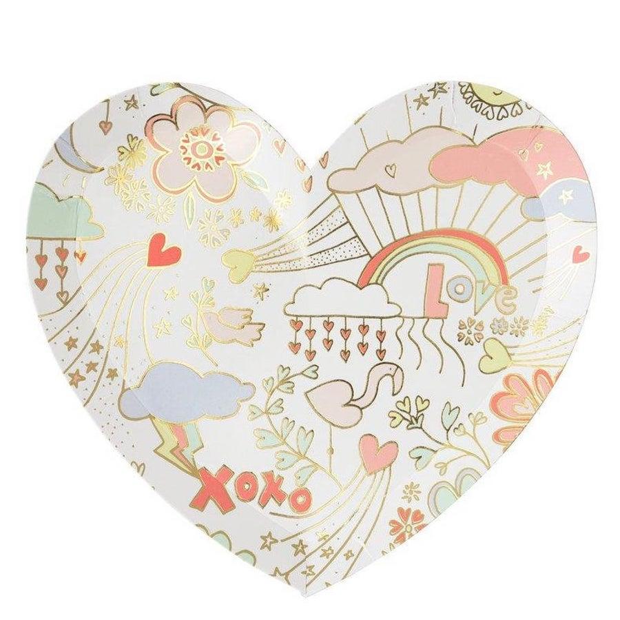 Valentine Doodle Plates