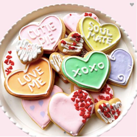 Valentine's Day Sugar Cookie Platter