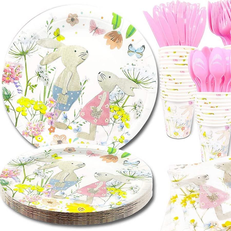 Darling Rabbit Party Plates