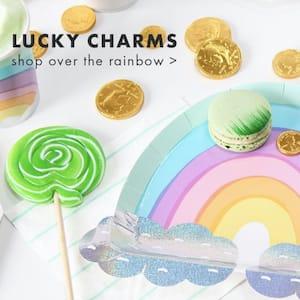Lucky Charms Over the Rainbow Plates