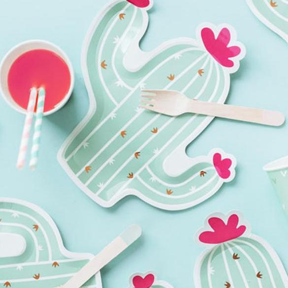 Cactus Lunch Paper Plates