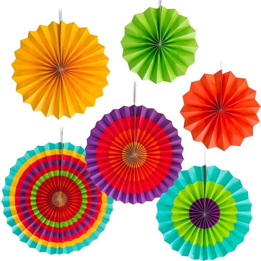 Colorful Paper Fans