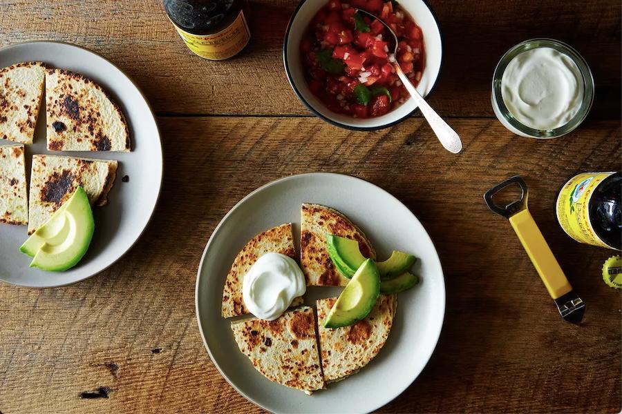 Feta Quesadillas with Fresh Pico de Gallo and Avocado Recipe
