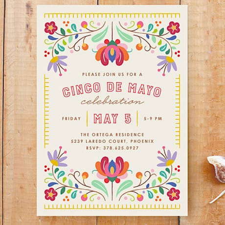 Fiesta Florals Invitation Custom Stationery
